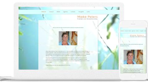 Mieke peters praktijk voor bewustwording door erjon webdesign