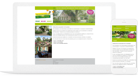 b&b oranjetipje steenwijk door erjon webdesign