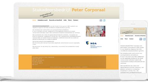 stukadoorsbedrijf peter corporaal door erjon webdesign steenwijk
