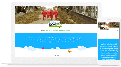 Kinderopvang koerine door natwell en erjon webdesign